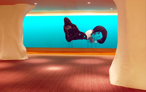 芝加哥奥黑尔洲际酒店的画廊。来源:芝加哥奥黑尔洲际酒店