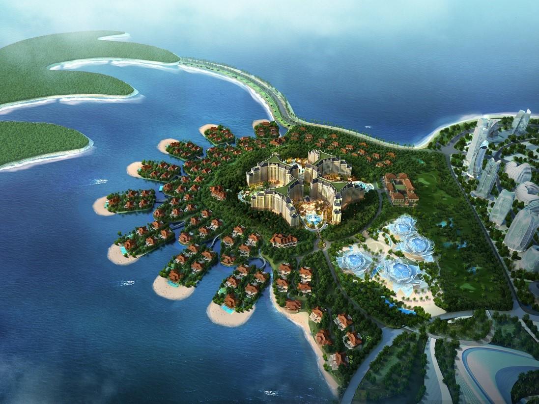 恒大海花岛希尔顿酒店封顶 中国最大酒店群呼之欲出